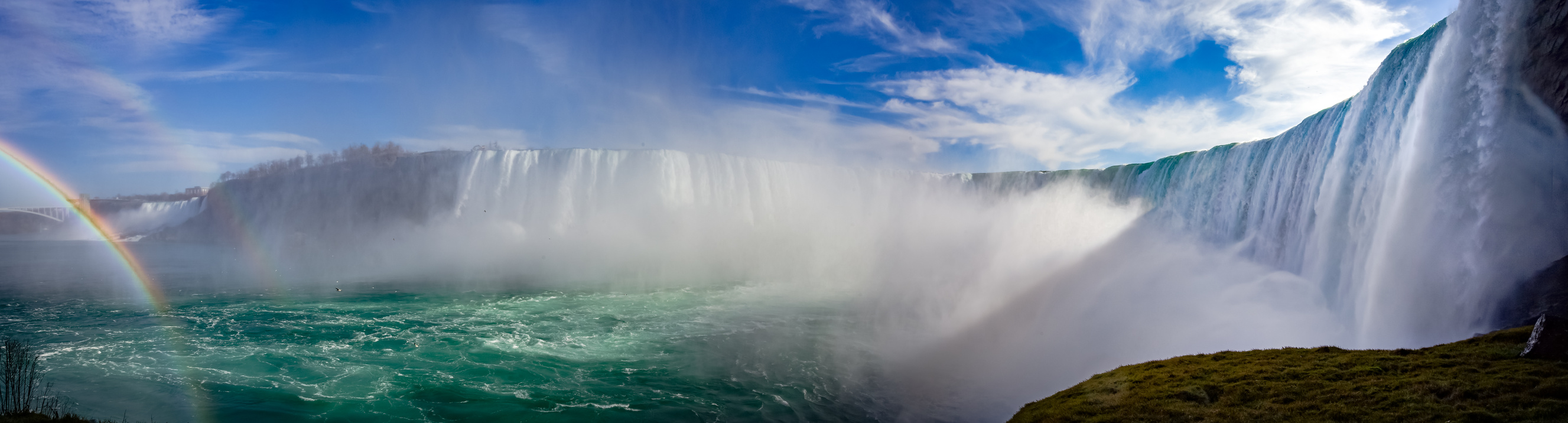 Panoramafoto der Niagarafälle