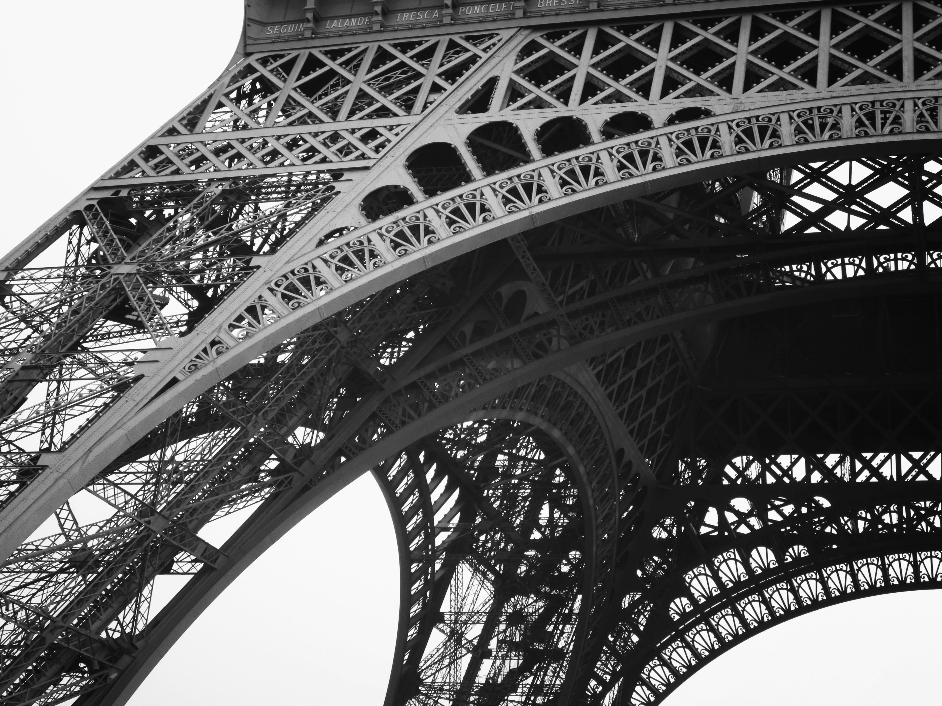Bildausschnitt des Eiffelturms.