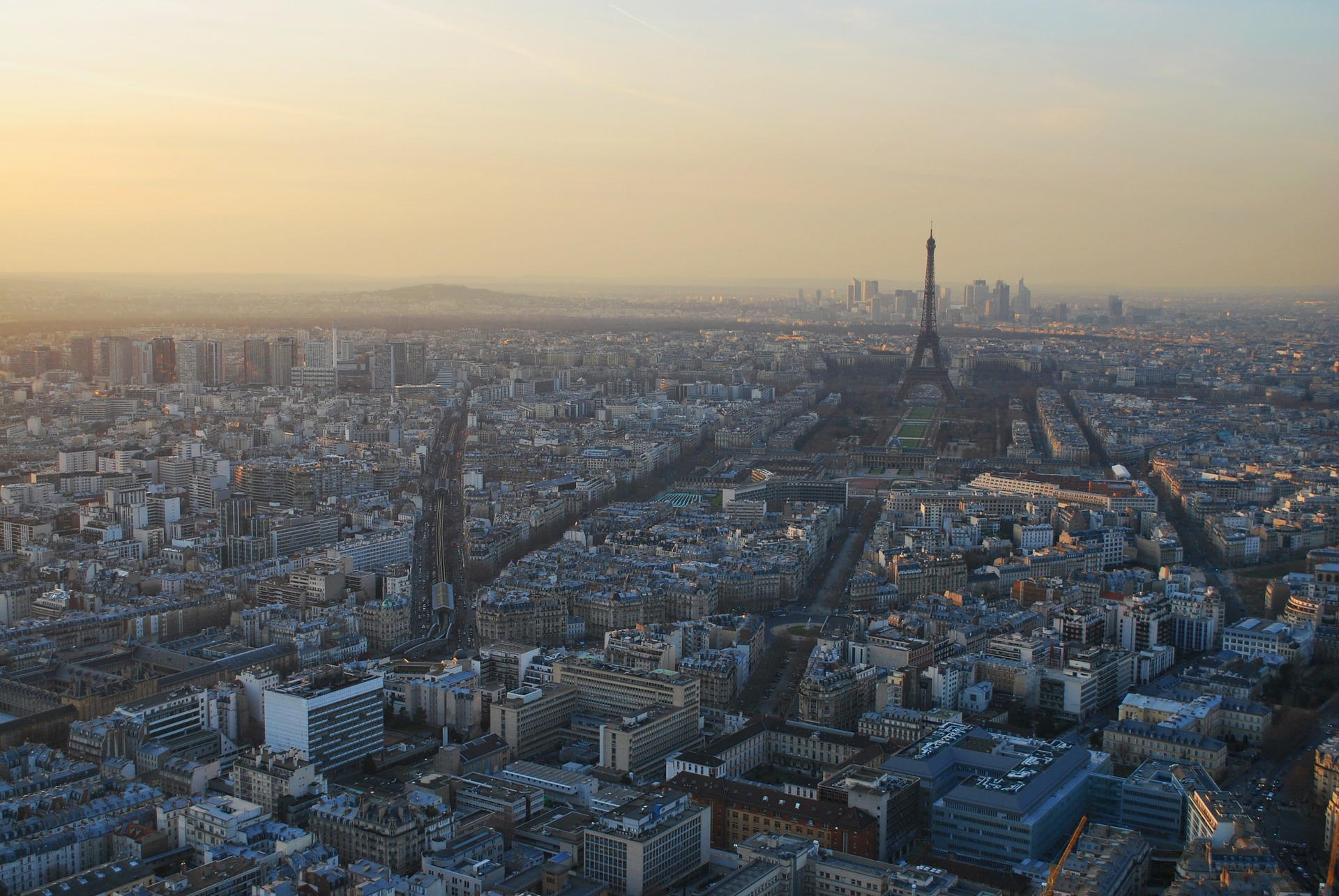 Ein Panorama-Blick über Paris