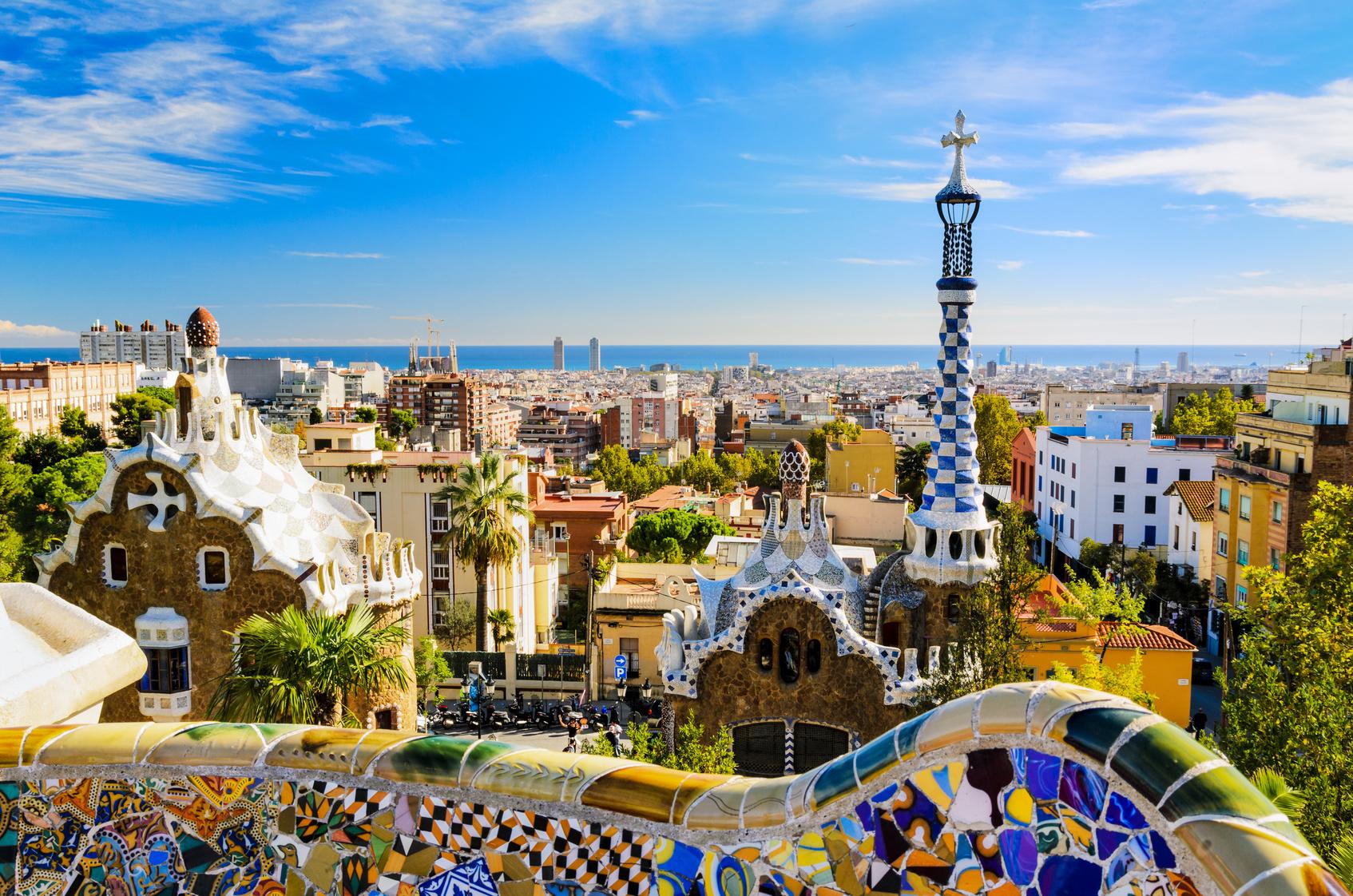 Ausblick von Park Güell über Barcelona
