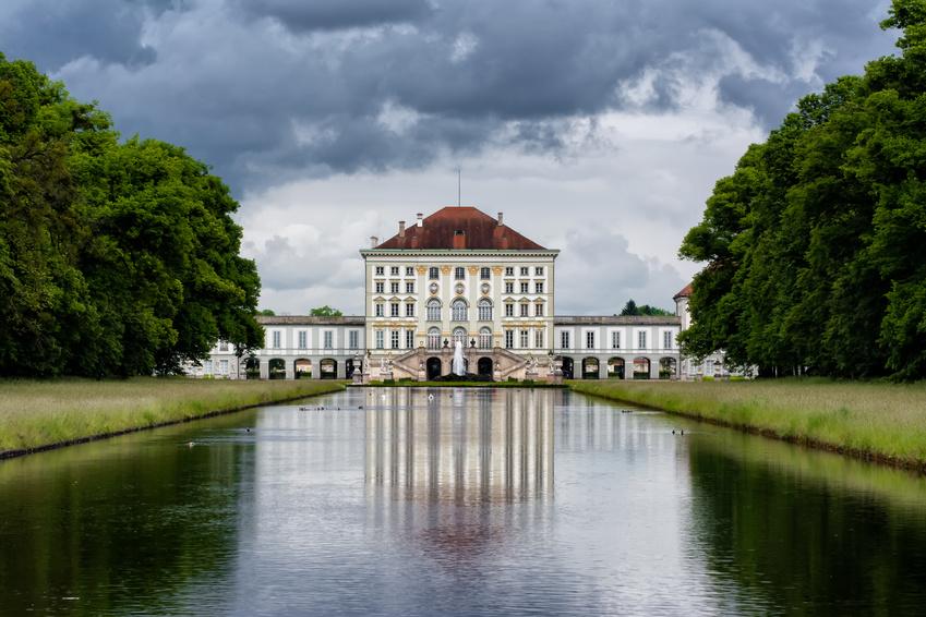 Blick auf Schloss Nymphenburg